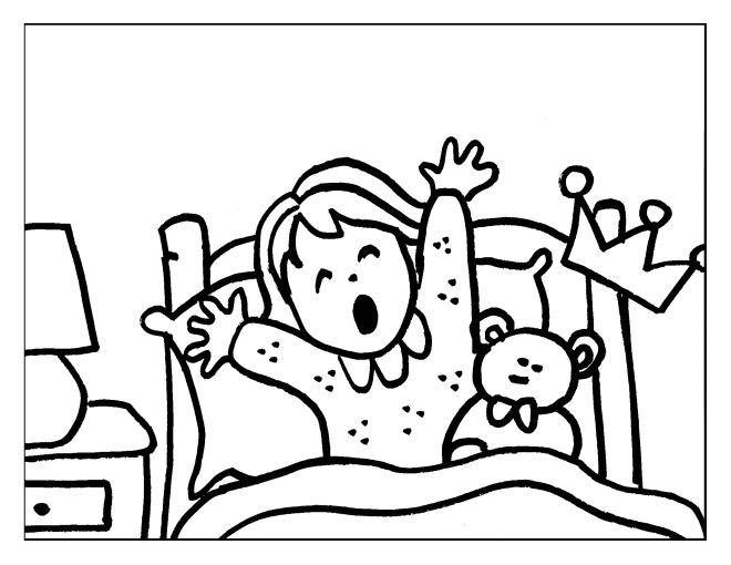dibujo-colorear-2-princess-waking-up